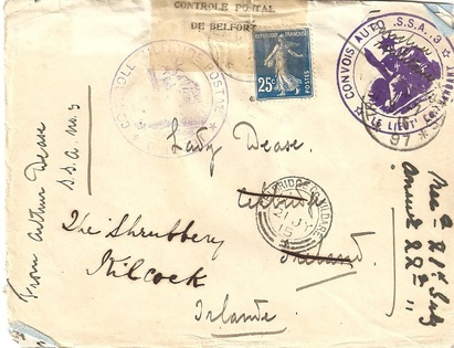 WW1 letter home from the Western Front.