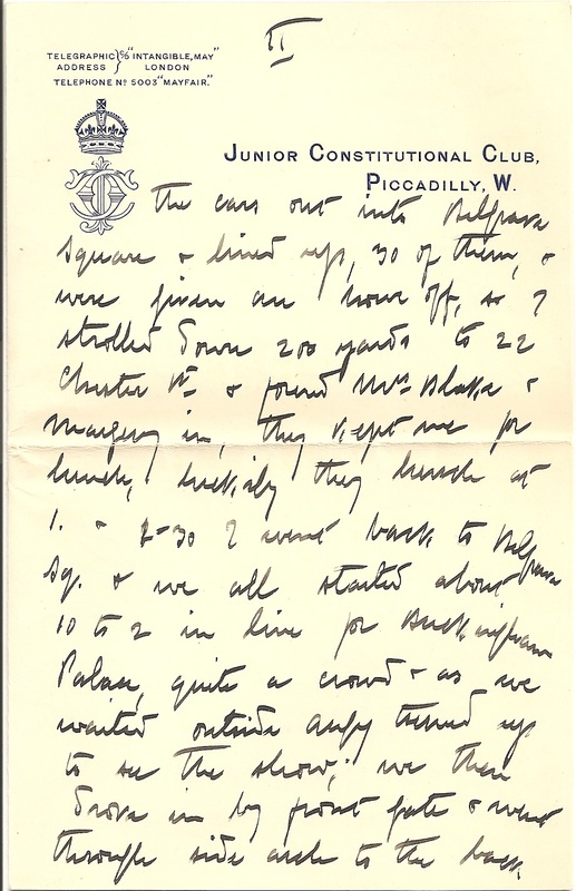 WW1 Letter sent home