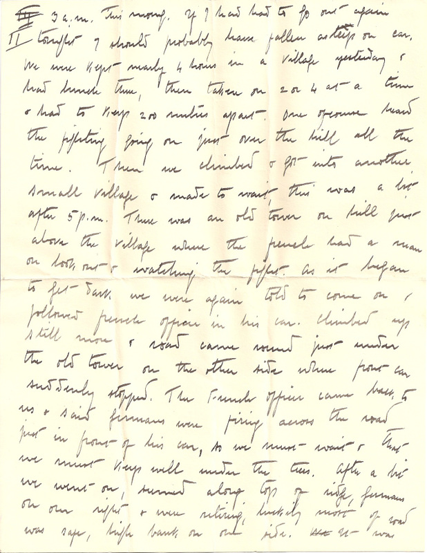 WW1 Letter home March 1915 pg3
