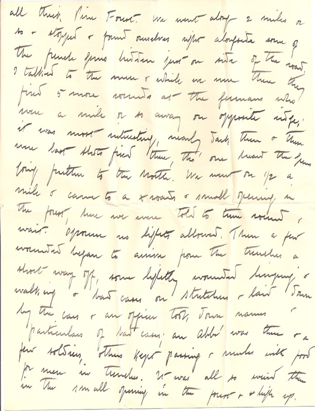 WW1 Letter home March 1915 pg 4