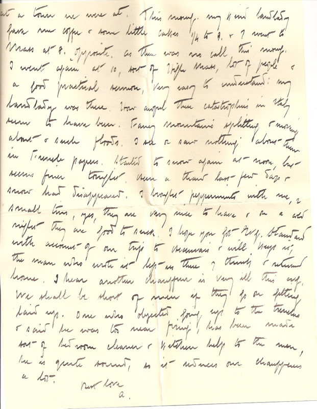 WW1 Letter home 7th March 1915 pg 4