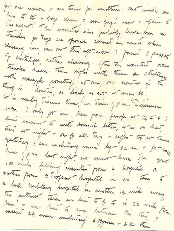 WW1 Letter home 7th March 1915 pg 2
