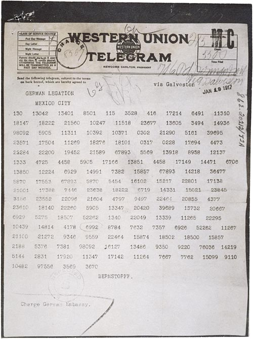 The WW1 Zimmerman Telegram