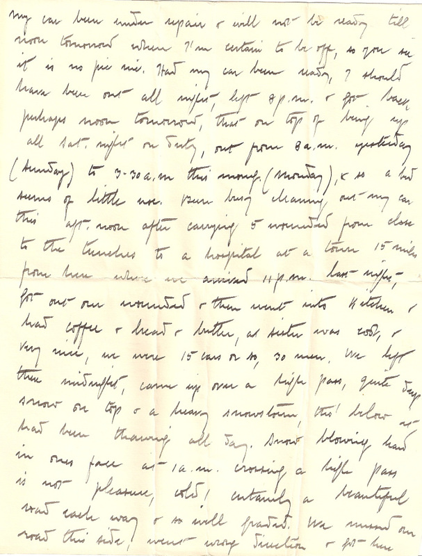 WW1 Letter home March 1915 pg 2