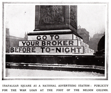 Trafalgar Square 1917 Advertising WW1 War Loans