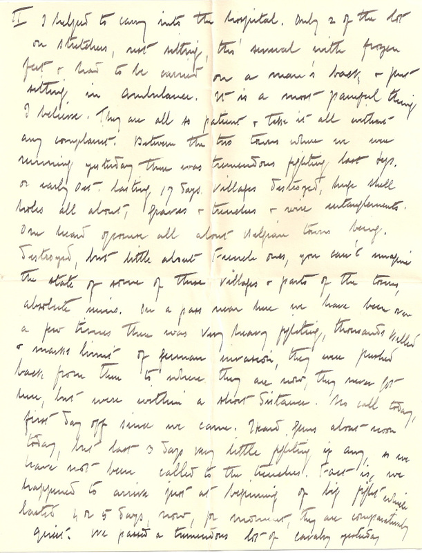WW1 Letter home March 7th 1915 pg 3