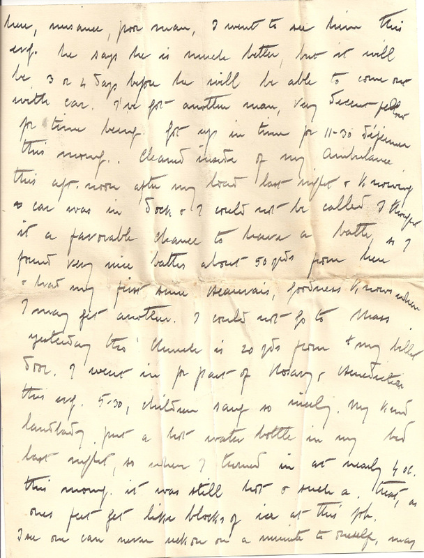 WW1 Letter home March 1915 pg 8